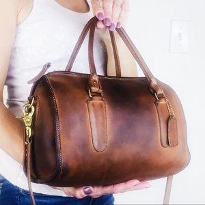RARE Coach Vintage Leather Madison Satchel Handbag